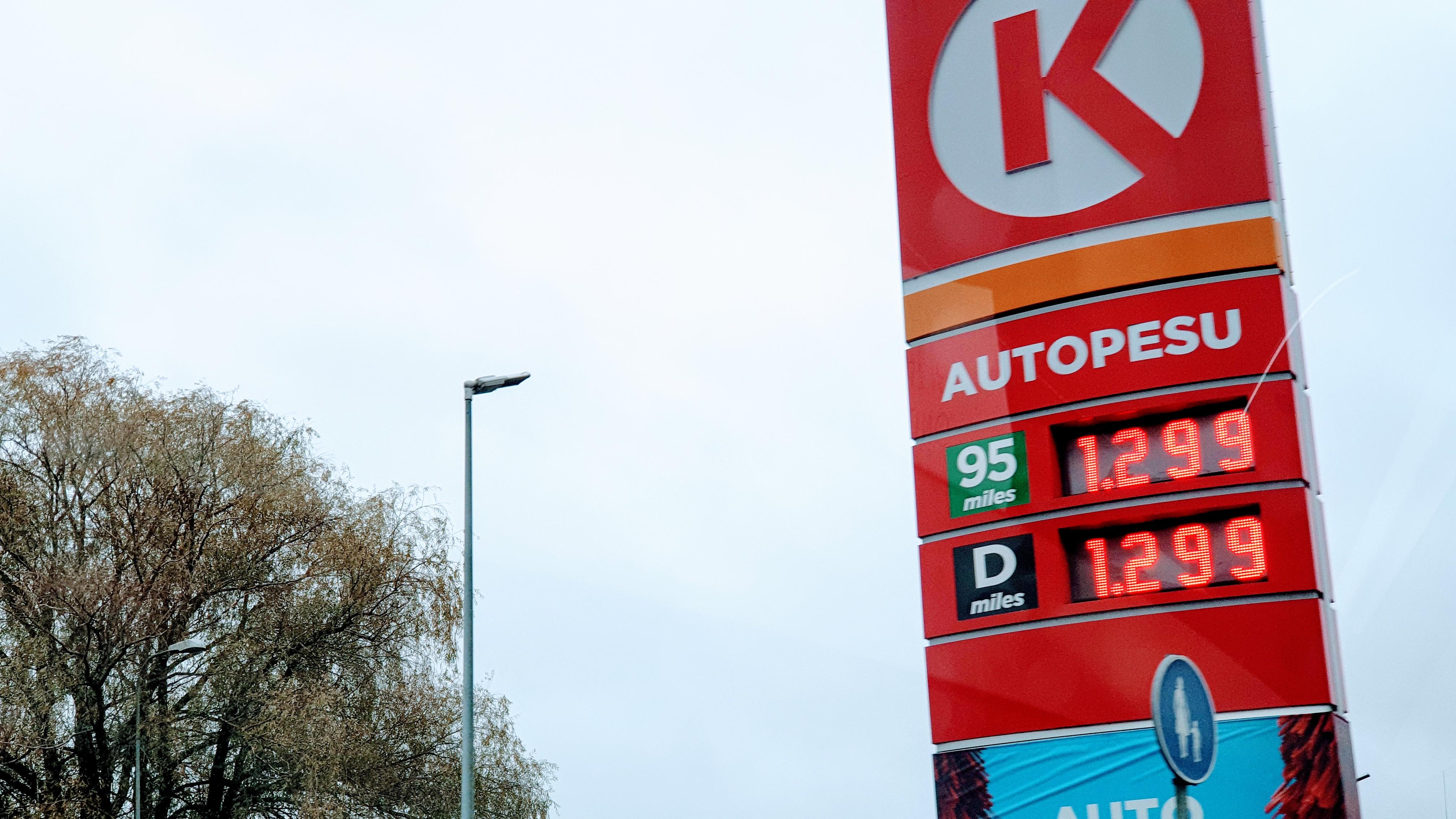 Circle K langetas nädalavahetuseks kütusehinda
