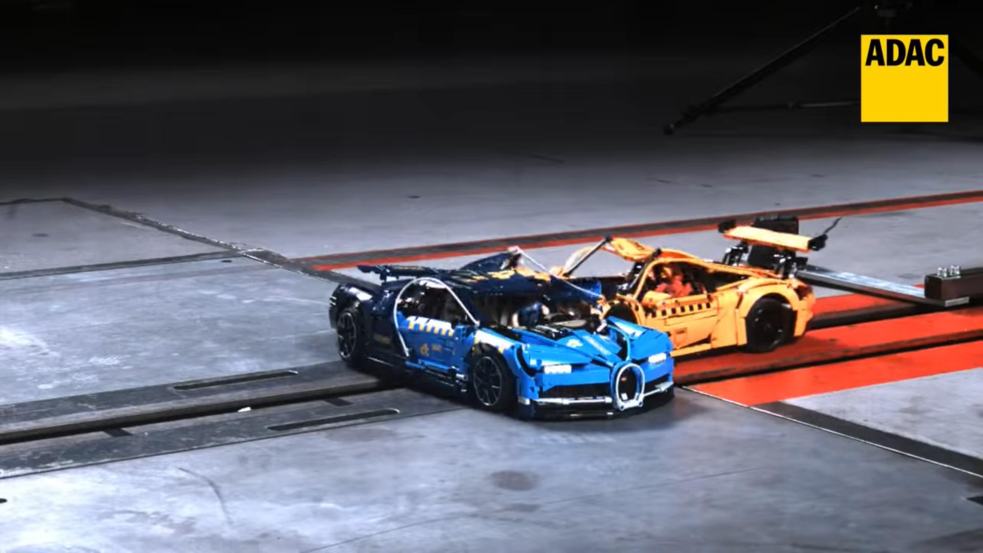 Valus kokkupõrke test Porsche 911 GT3 RS-i ja Bugatti Chironiga, kus tükke lendab kõvasti