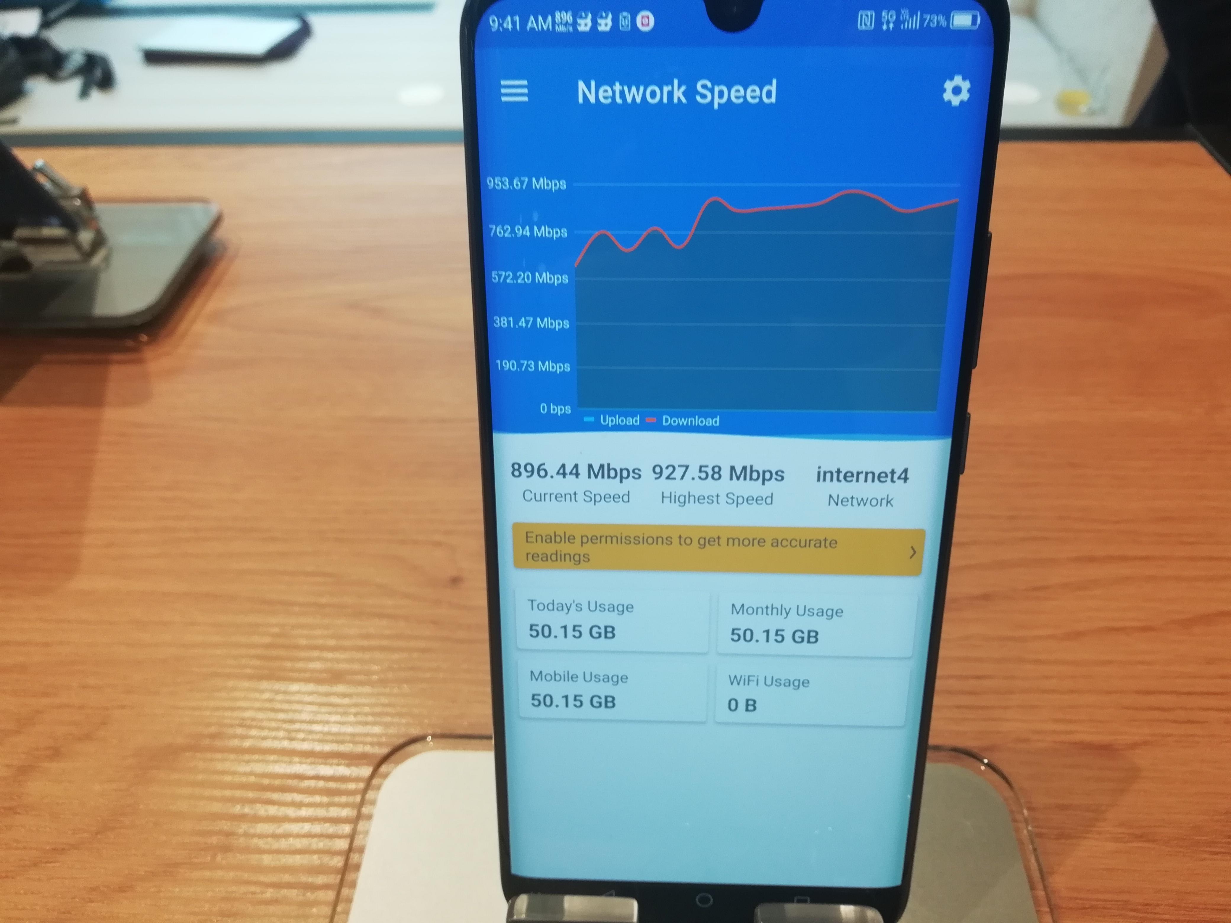 274d53f6b03 Hiljem OnePlus 7 Pro 5G telefoniga testides näitas kiirusetest 300-400  Mbit/s ringis, kuid siis oli võrgus ka rohkem seda koormavaid kasutajaid.